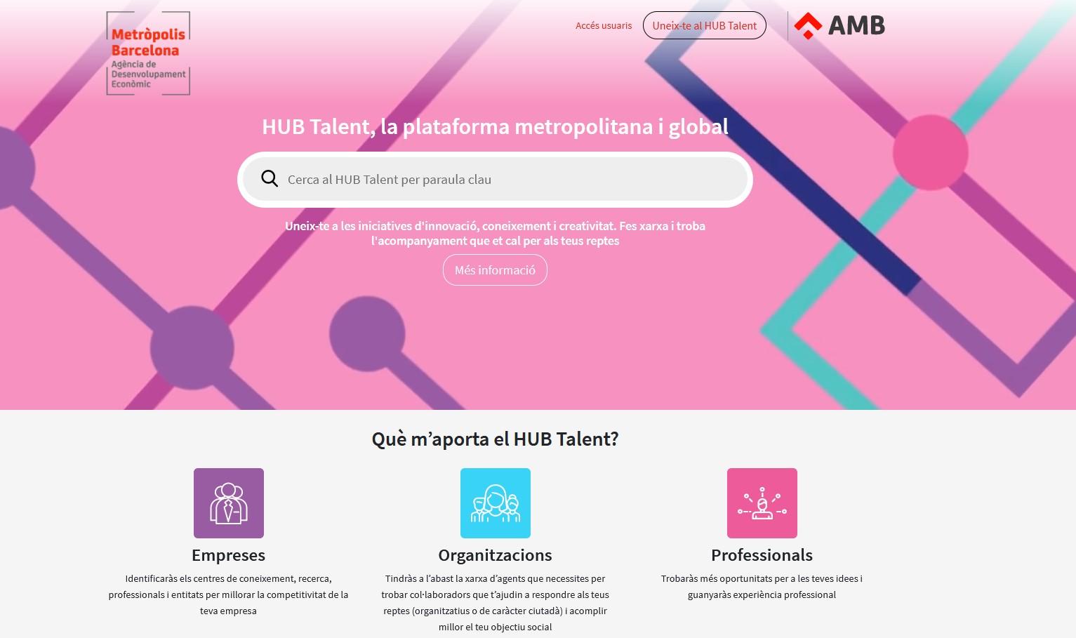 ¿Qué es el HUB Talent Metrópolis Barcelona?
